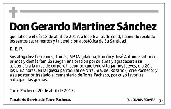 Gerardo Martínez Sánchez