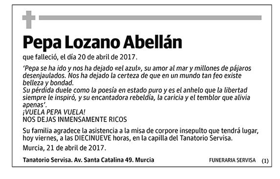 Pepa Lozano Abellán