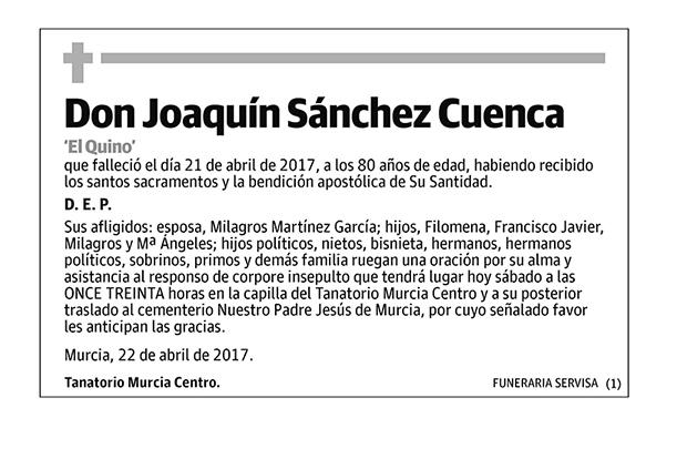 Joaquín Sánchez Cuenca