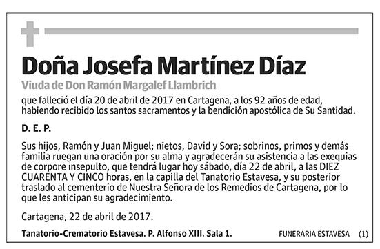 Josefa Martínez Díaz