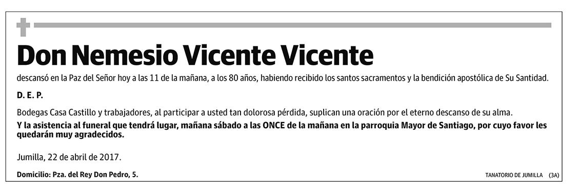 Nemesio Vicente Vicente
