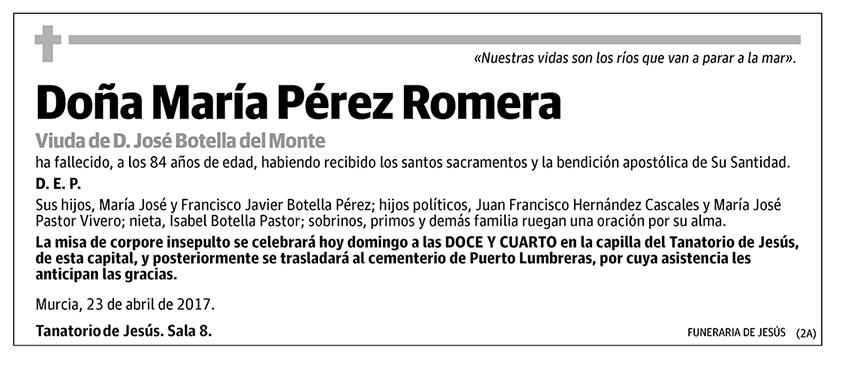 María Pérez Romera