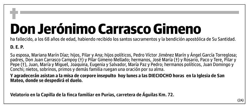 Jerónimo Carrasco Gimeno