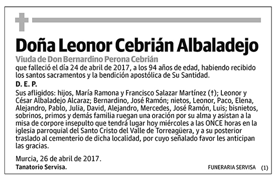 Leonor Cebrián Albadalejo