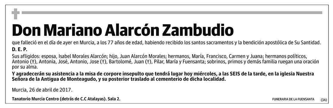 Mariano Alarcón Zambudio