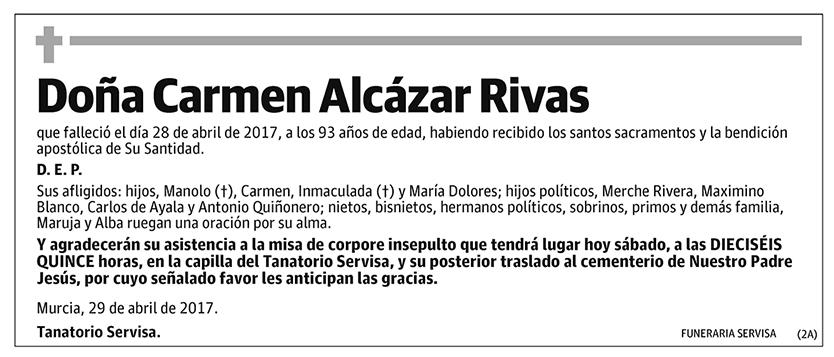 Carmen Alcázar Rivas