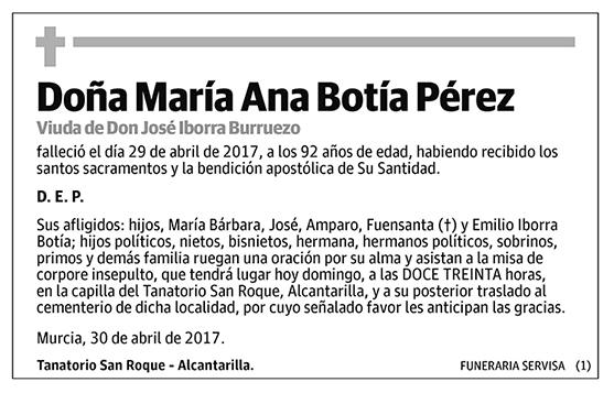 María Ana Botía Pérez