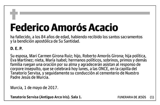 Federico Amorós Acacio
