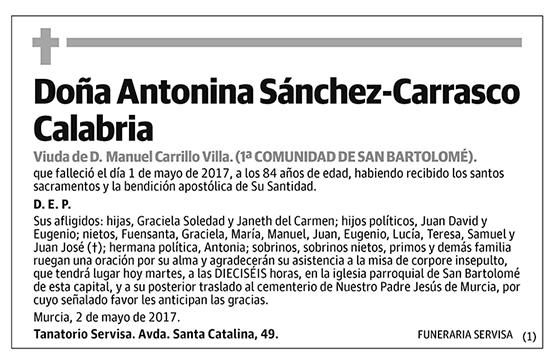Antonina Sánchez-Carrasco Calabria