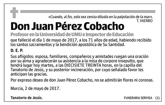 Juan Pérez Cobacho
