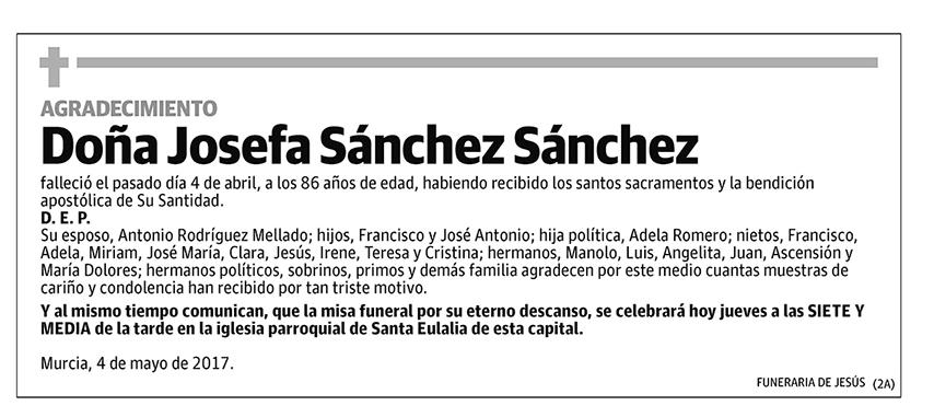 Josefa Sánchez Sáchez