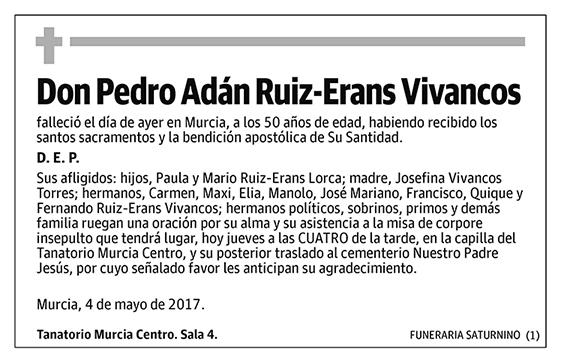 Pedro Adán Ruiz-Erans Vivancos