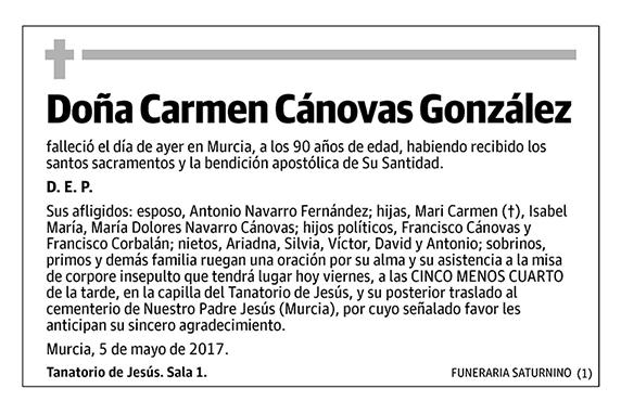Carmen Cánovas González