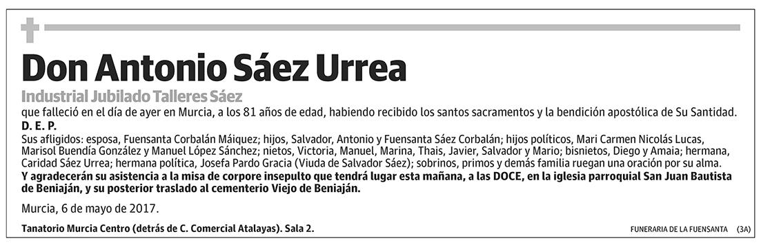 Antonio Sáez Urrea