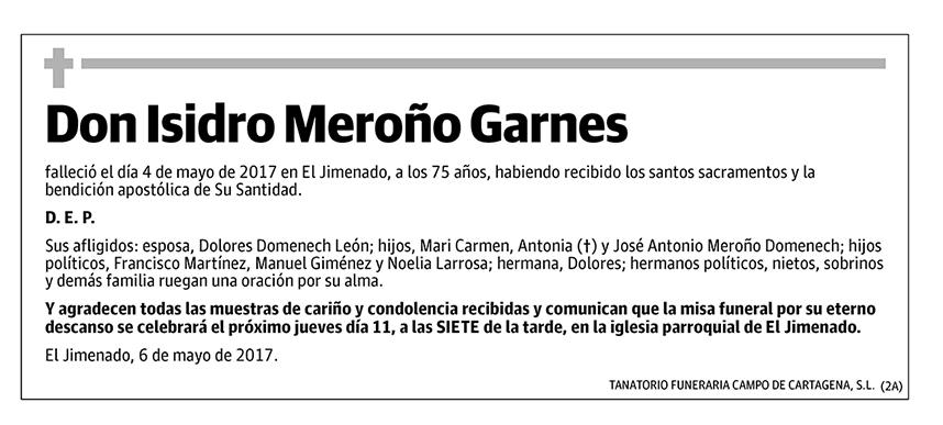 Isidro Meroño Garnes