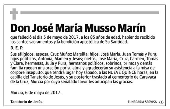 José María Musso Marín