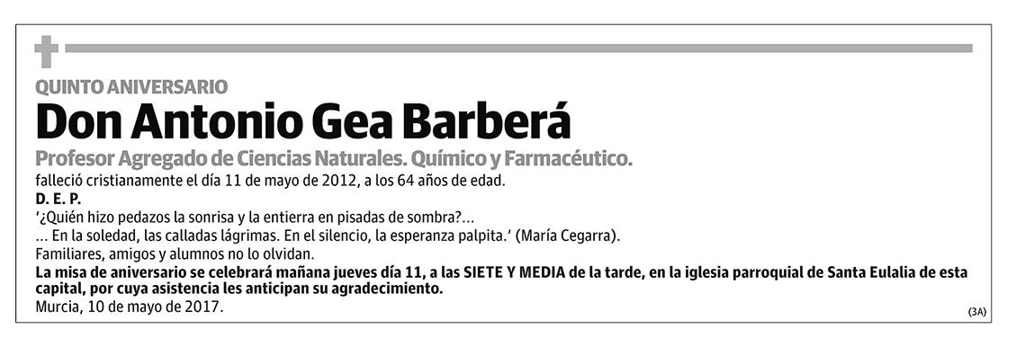 Antonio Gea Barberá