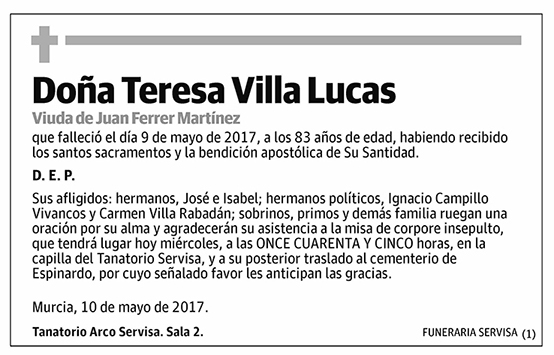 Teresa Villa Lucas