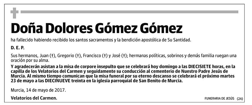 Dolores Gómez Gómez