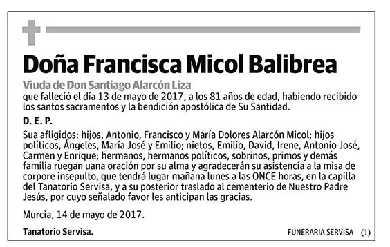 Francisca Micol Balibrea