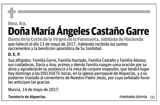 María Ángeles Castaño Garre