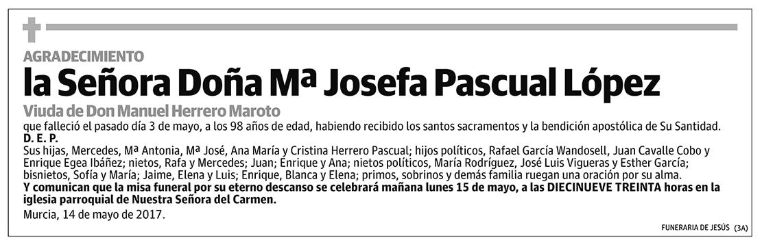 Mª Josefa Pascual López