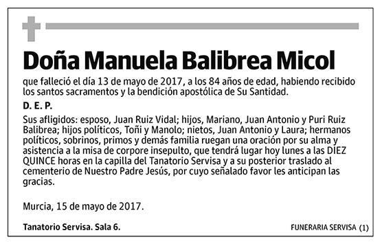 Manuela Balibrea Micol