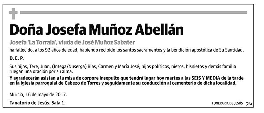 Josefa Muñoz Abellán