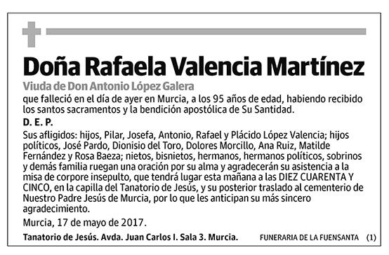 Rafaela valencia Martínez