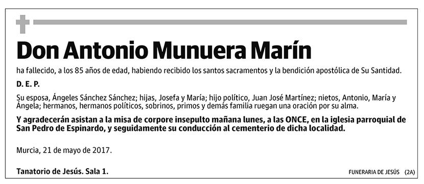 Antonio Munuera Marín