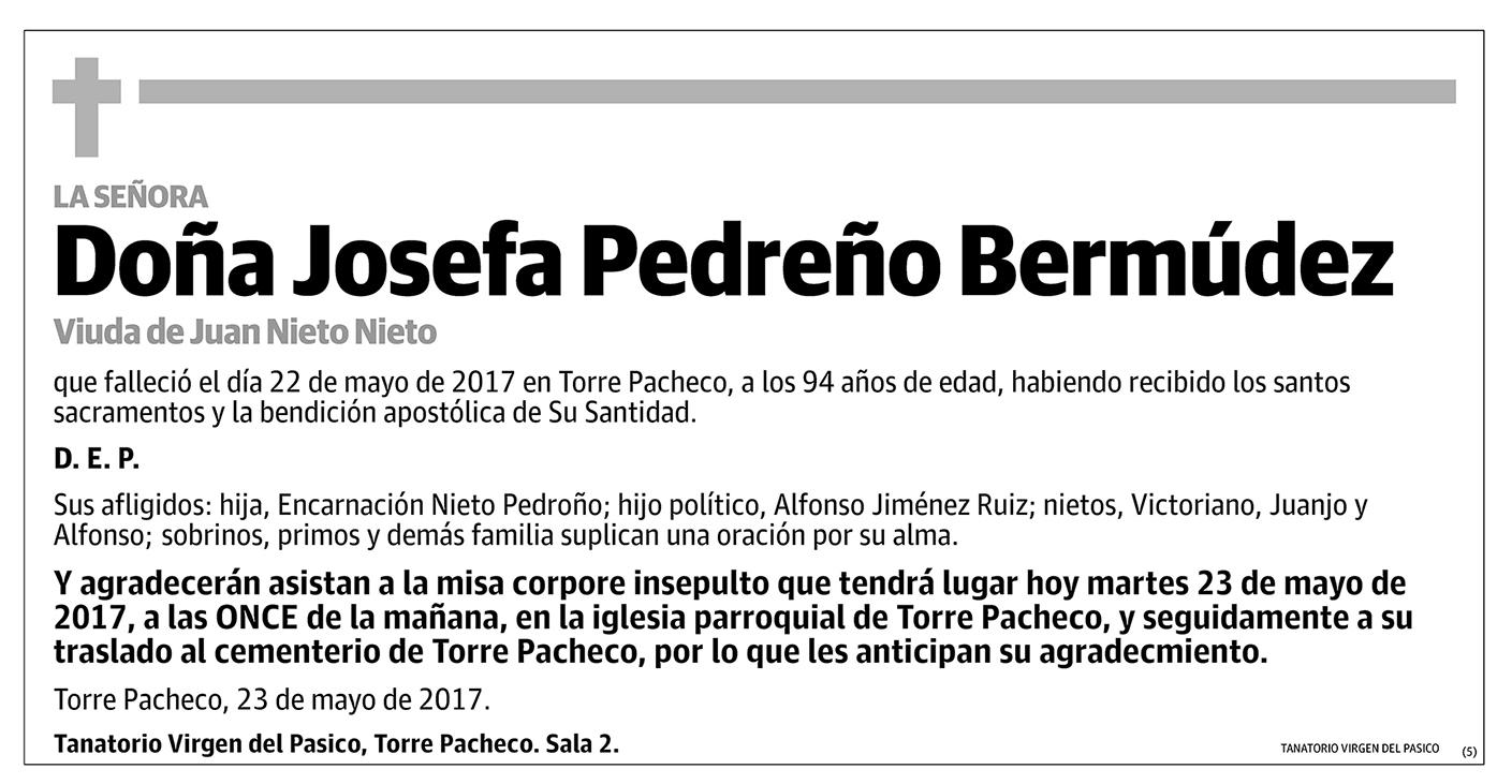 Josefa Pedreño Bermúdez