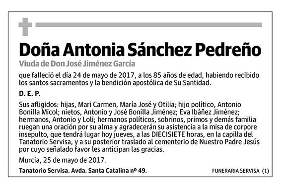 Antonia Sánchez Pedreño