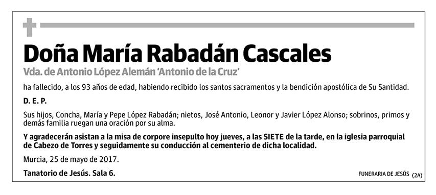 María Rabadán Cascales