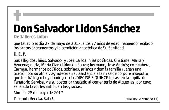 Salvador Lidon Sánchez