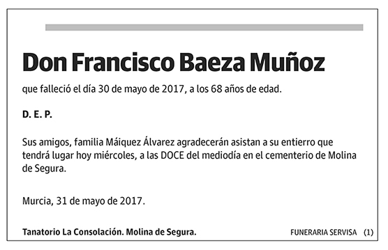 Francisco Baeza Muñoz