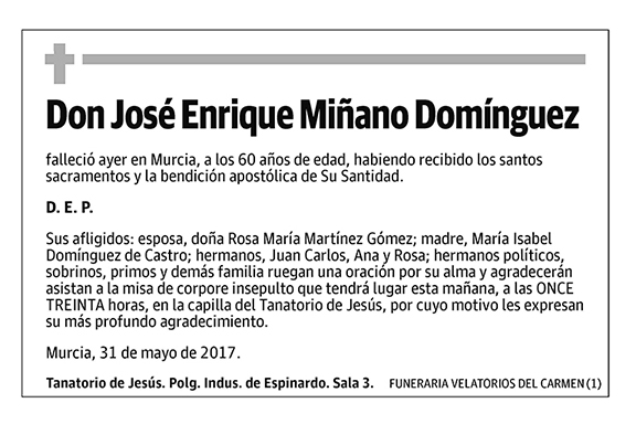 José Enrique Miñano Domínguez