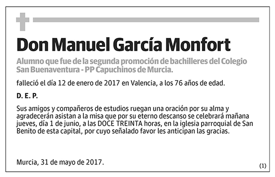 Manuel García Monfort
