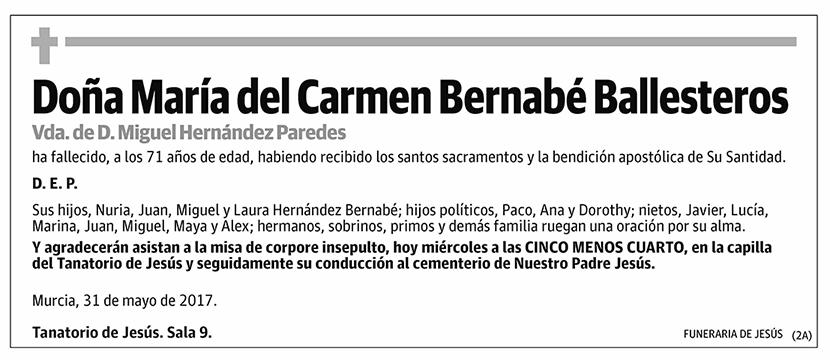 María del Carmen Bernabé Ballesteros