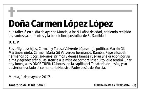 Carmen López López