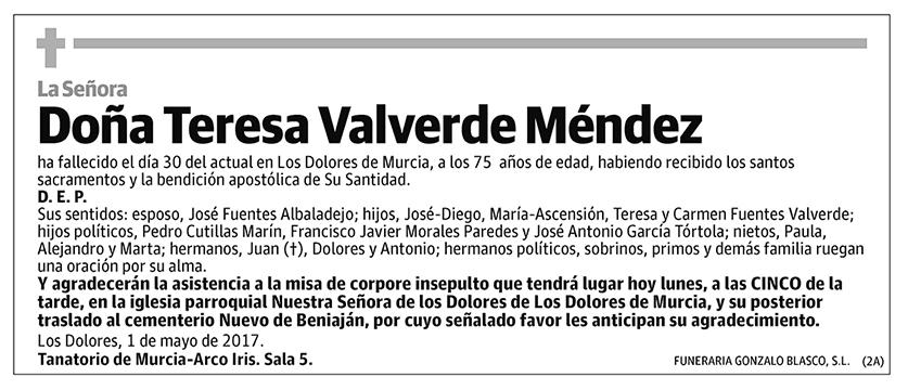 Teresa Valverde Méndez