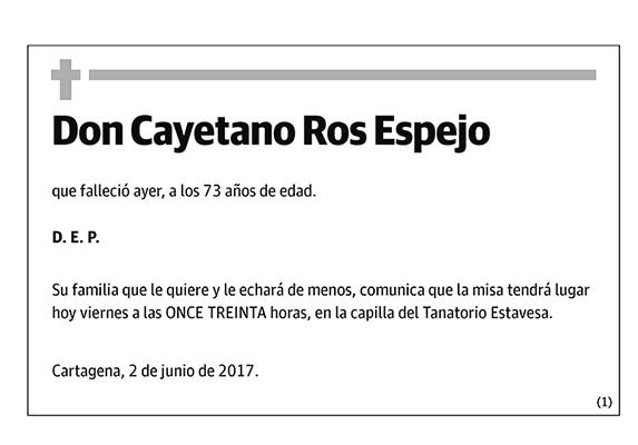 Cayetano Ros Espejo