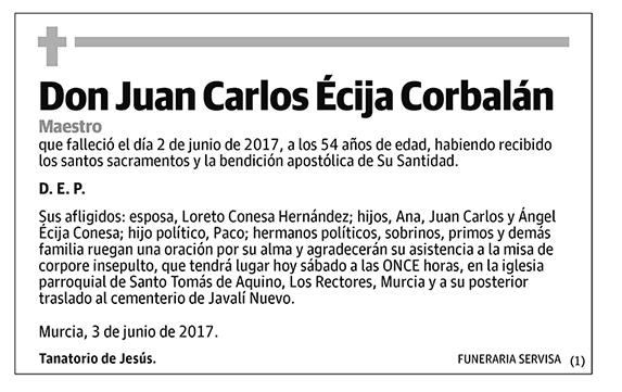 Juan Carlos Écija Corbalán