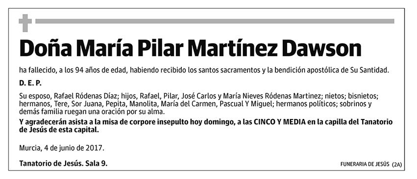 María Pilar Martínez Dawson