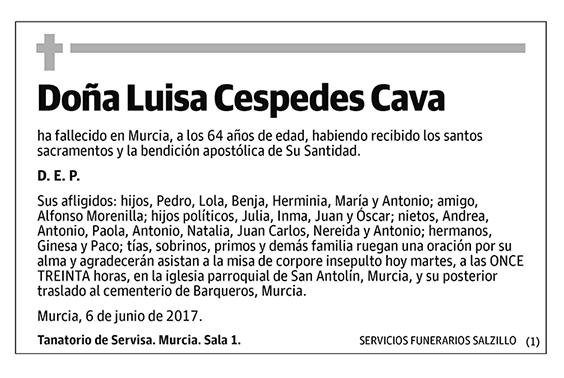 Luisa Cespedeas Cava