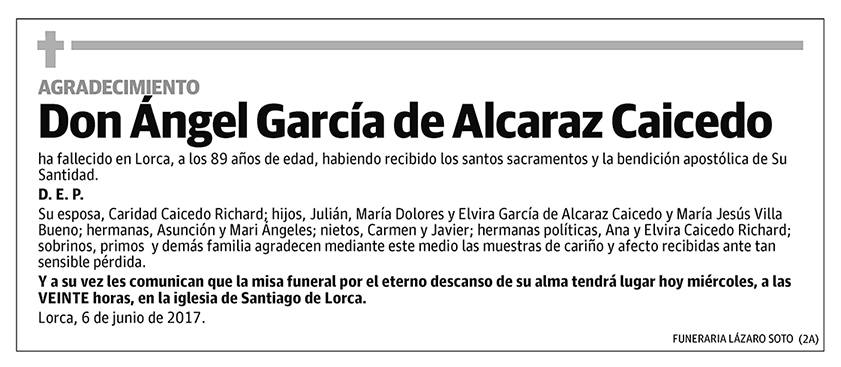 Ángel García de Alcaraz Caicedo
