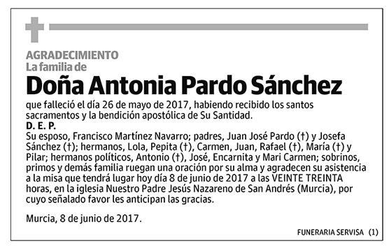 Antonia Pardo Sánchez
