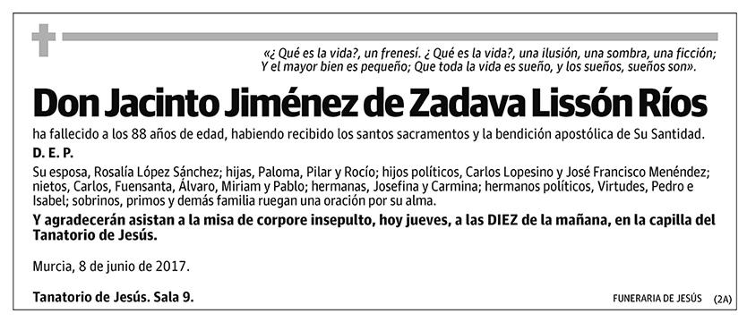 Jacinto Jiménez de Zadava Lissón Ríos