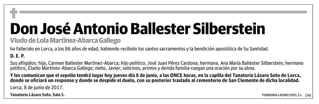 José Antonio Ballester Silberstein