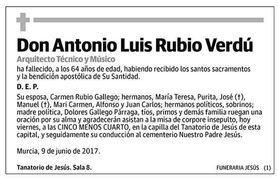 Antonio Luis Rubio Verdú