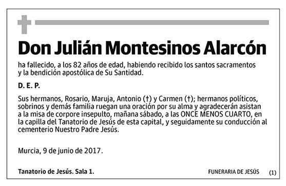 Julián Montesinos Alarcón
